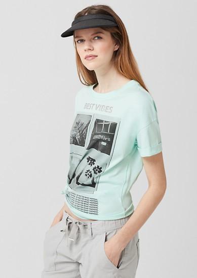 T-Shirt mit Metallic-Wording