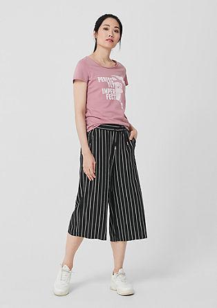 Kalhotová sukně zjemné tkaniny