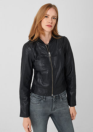 Leather jacket in a biker look from s.Oliver