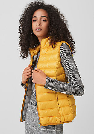 Body warmer with a light down finish from s.Oliver
