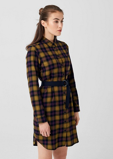 Dress in a madras check design from s.Oliver