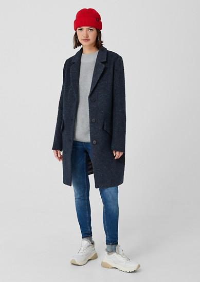 Manteau chiné en laine mélangée de s.Oliver
