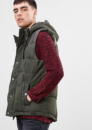 Padded gilet with washed effect from s.Oliver