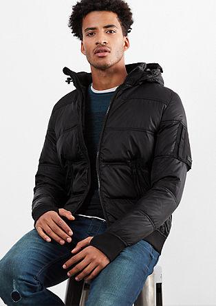 Donzen jas met de look van een bomberjack