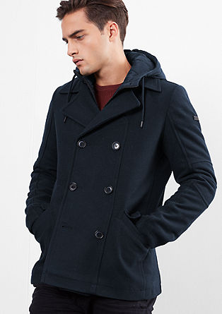 Padded pea coat with an insert from s.Oliver