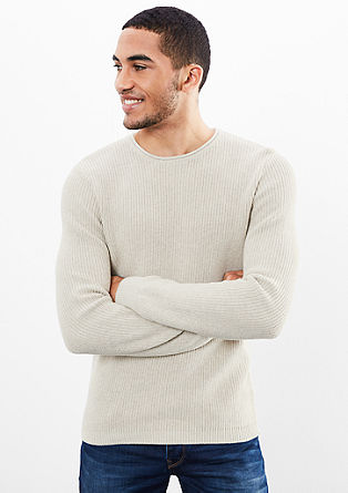 Ribbed knit jumper from s.Oliver