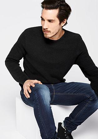 Pullover aus Rippstrick