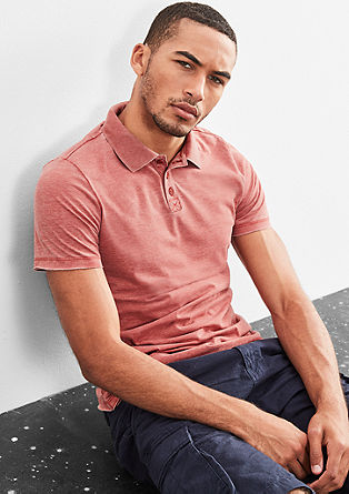 Poloshirt mit Used-Finish