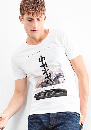 T-Shirt mit New York-Print