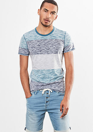 Slub yarn t-shirt with an inside-out effect from s.Oliver