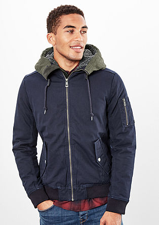 Lined bomber jacket with a hood from s.Oliver