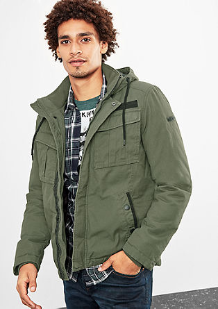 Warm canvas jacket from s.Oliver