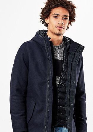 Zimska jakna z deležem volne