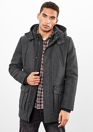 Short hooded coat from s.Oliver