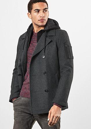Kurzer Mantel im 2-in-1-Look