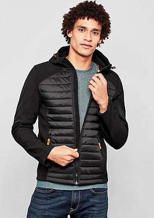 Functional quilted jacket with neon details from s.Oliver