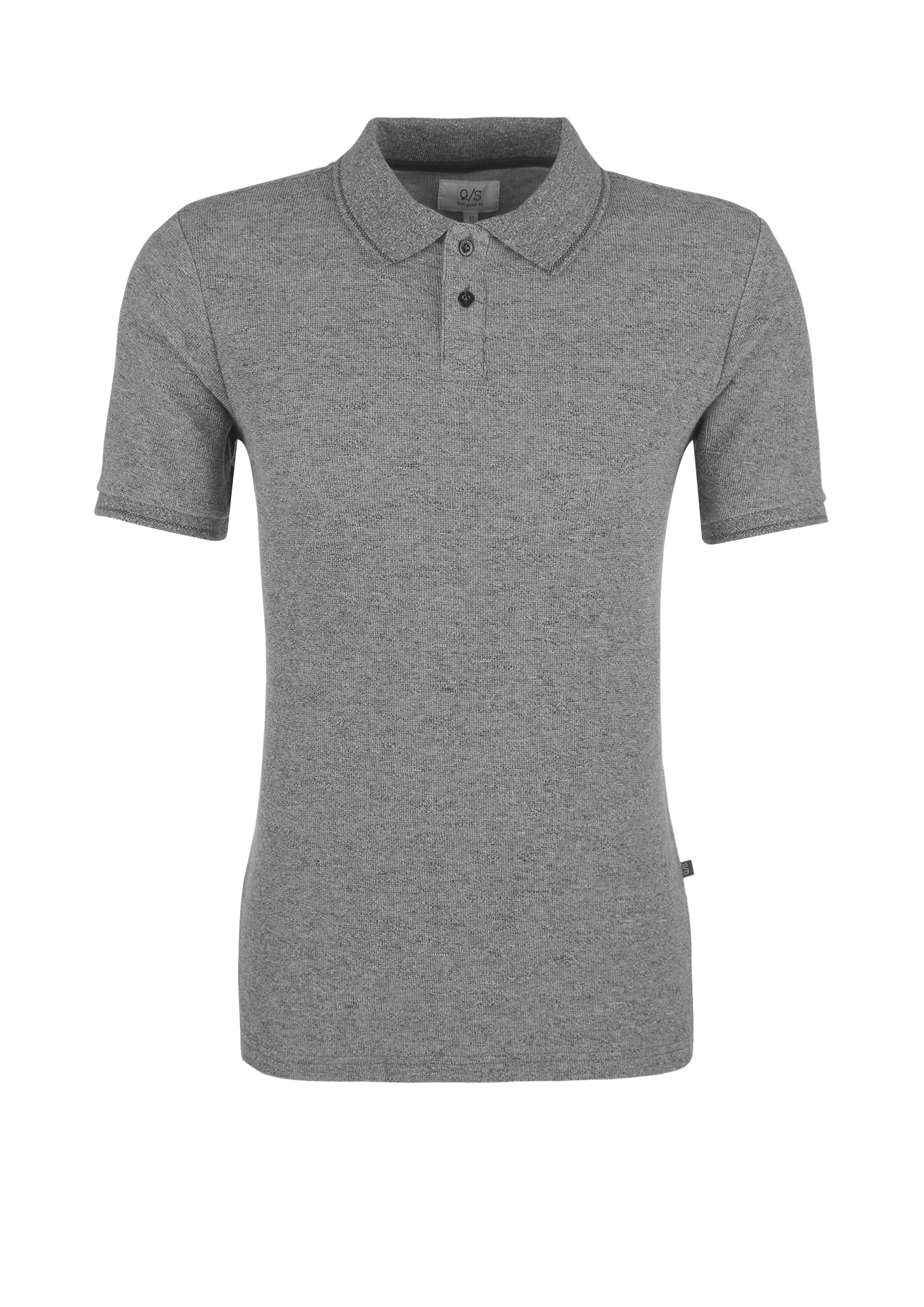 Poloshirt | Bekleidung > Polo Shirts | Grau/schwarz | 80% baumwolle -  20% polyester | Q/S designed by