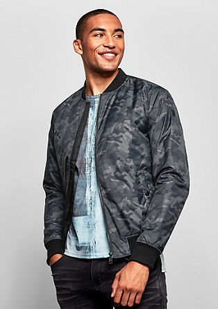 Bomber jacket with a camouflage print from s.Oliver