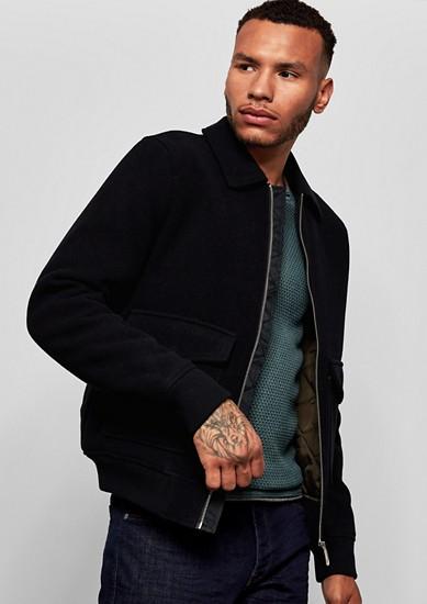 Bluzonová bunda z vatovaného vlněného flísu
