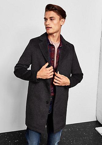 Wattierter Mantel in Woll-Optik