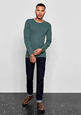 Textured fine knit jumper from s.Oliver