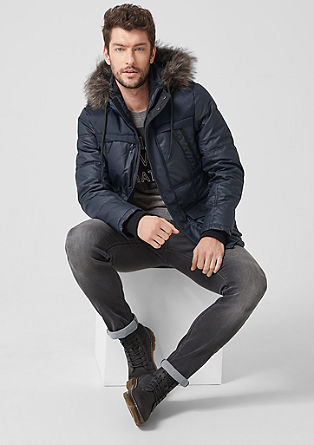 Warm, coated quilted jacket from s.Oliver