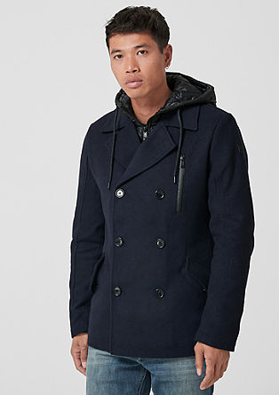Wool blend pea coat from s.Oliver