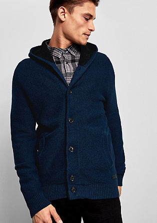 Cardigan with a lined hood from s.Oliver