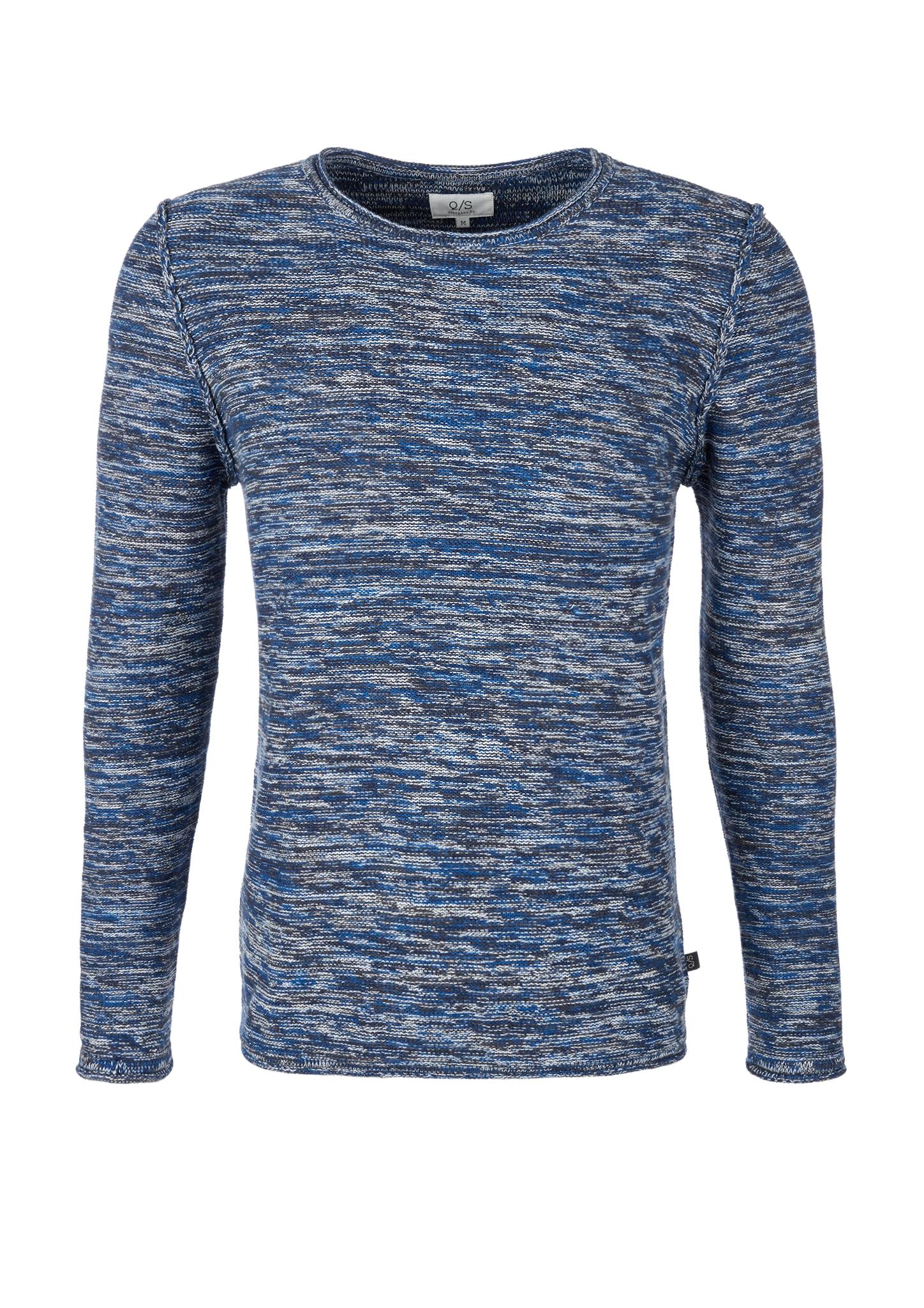 Melange-Pullover   Bekleidung > Pullover > Sonstige Pullover   Blau   100% baumwolle   Q/S designed by