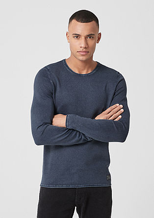 Jumper with a garment-washed effect from s.Oliver