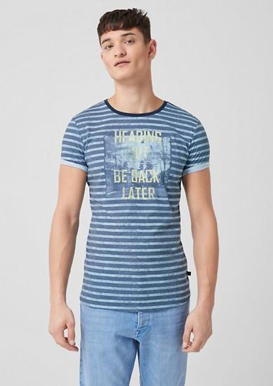 Streifenshirt mit Fotoprint
