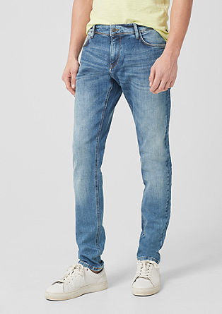 Gavin: denim met garment-washed effect