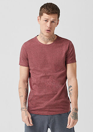 T-Shirt mit Melange-Effekt
