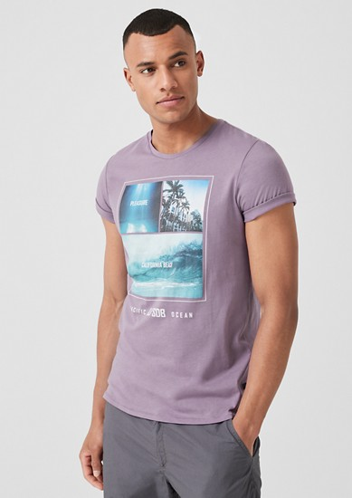 Jersey T-shirt with a photo print from s.Oliver