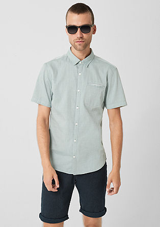 Extra Slim: shirt with a woven pattern from s.Oliver