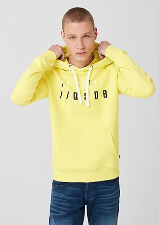 Športni pulover s kapuco in tiskom spredaj