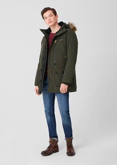 Parka with a faux fur collar from s.Oliver