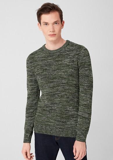 Gebreide trui van gemêleerd garen