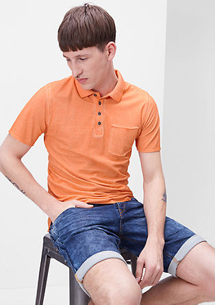 Garment-dyed polo shirt from s.Oliver