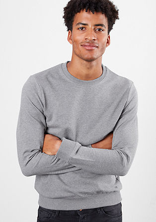 Basic sweatshirt with a round neckline from s.Oliver