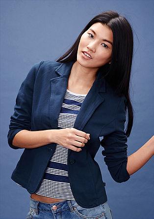 Sweatshirt jacket in a blazer design from s.Oliver