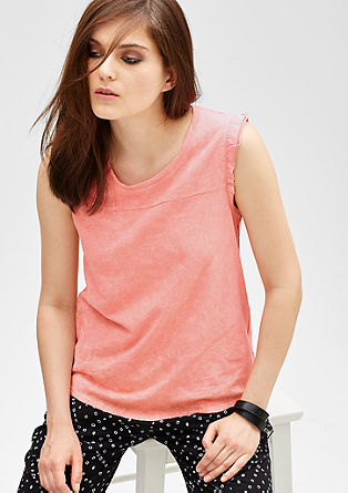 T-shirt with frill sleeves from s.Oliver