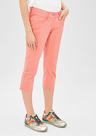 Slim: Capri jeans in pale twill from s.Oliver