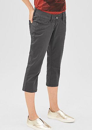 Slim: Capri-Jeans aus hellem Twill