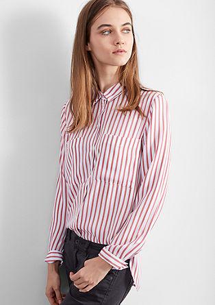 Oversize-Hemdbluse mit Streifen