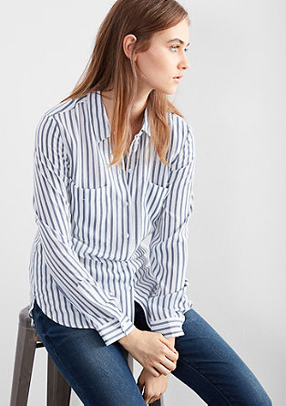 Oversized shirt blouse with stripes from s.Oliver