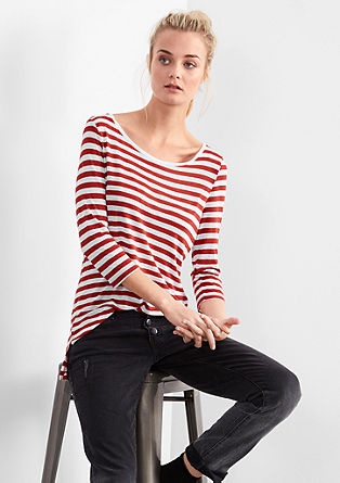 Striped long top made of viscose from s.Oliver
