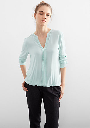 Tunic blouse with elasticated waistband from s.Oliver