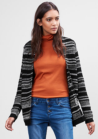 Striped cardigan with an open front from s.Oliver