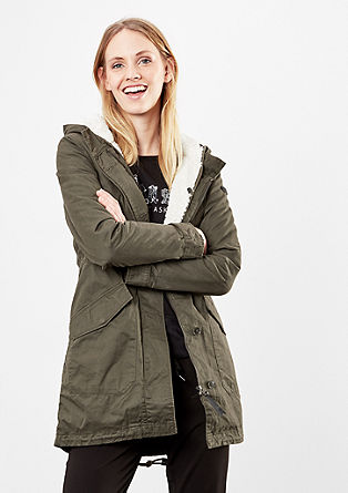 Lined parka with a hood from s.Oliver